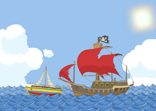 The Story of Dr. Dolittle 14: Red Sails of the Barbary Pirates