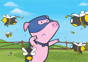 20. Super Pig and the Bees