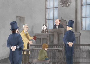 Oliver Twist 7: Oliver in Court
