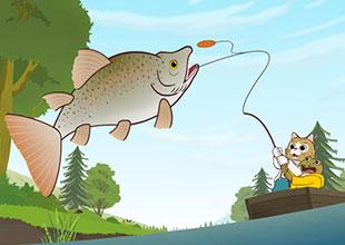 Tom Kitten Goes Fishing 3: A Big Fish